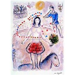CHAGALL DANSEUSE AU FLUTISTE SIGNED S/N GICLEE #2377712