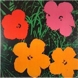 HUGE ANDY WARHOL FLOWERS RARE OFFICIAL #2377718