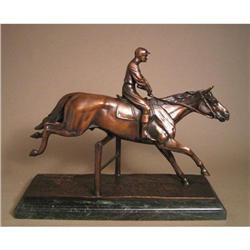 THE STEEPLE EQUESTRIAN CHASE BRONZE SCULPTURE #2377725