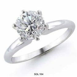 1.02 Carats Round Diamond Solitaire ENGAGEMENT #2377726