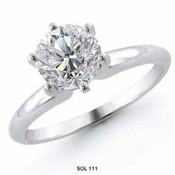 1.01 carats WHITE GOLD solitaire engagement #2377730
