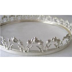 Silver Tiara style rim for bowl 800 gr. c1890 #2377951