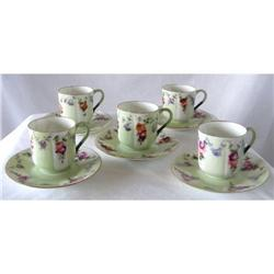 Demitasse Cups & saucers (5) French c1905 #2377952