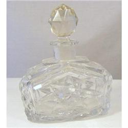 Perfume Bottle . Heavy Lead Crystal c1920 #2377962