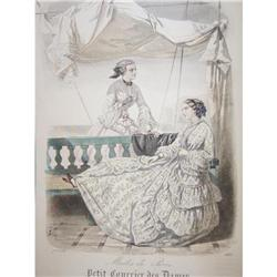 Antique hand colored  fashion print #2377977