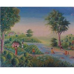 Haitian Painting by Guerina Faubert  #2377982