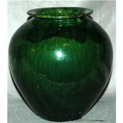 Green Blue Drip Glazed Pottery VASE FRANCE  #2378052