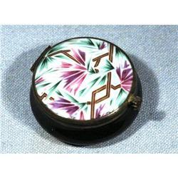 Art Deco Porcelian Powder Jar with Mirror #2378053