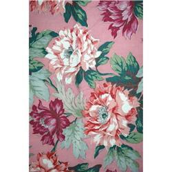 "Vintage Big Floral Print  Bark Cloth 78"" x 48"" #2378068"