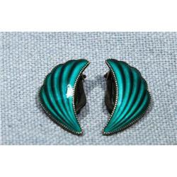 Norway Sterling Guilloche Earrings ELVIK 1950's#2378091
