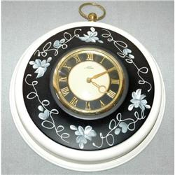 Alba 8 Day Painted Tole Wall Clock  #2378102