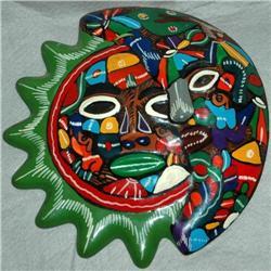 Mexican Talavera Sun Moon Face  Wall ART #2378103
