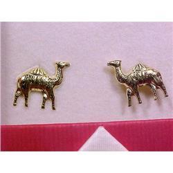 14K Gold Camel Earrings in original box.   #2378107