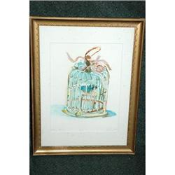Blue Bird Watercolor by Flossie Rehr  #2378113