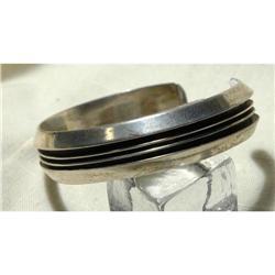Signed Tom Hawk Sterling Overlay Cuff Bracelet #2378118