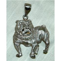 One of Kind Sterling Silver Bull Dog Pendant  #2378121