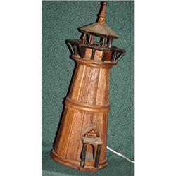 Handcrafted Lighted  Cedar Wood Light House #2378127