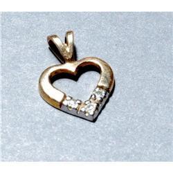 14k Gold Diamond Heart Pendant #2378128