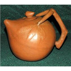Unusual  Handcrafted   Clay Teapot Terra-cotta #2378131