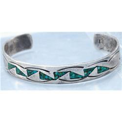 Sterling Silver & Turquoise Bracelet  #2378133