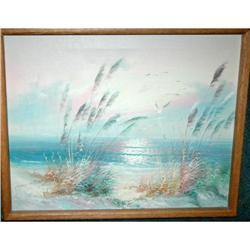 Seashore Misty Dawn Oil on Canvas Painting #2378136