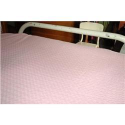 OLD. Morgan Jones Pink Chenille Twin BED SPREAD#2378137
