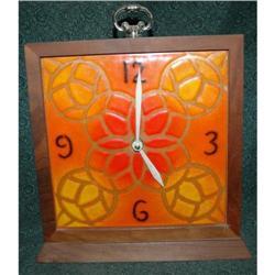 1960's 70's  Reto Mod Tile Face Clock  #2378149