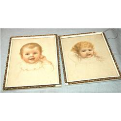 Two Baby  Pictures in pastels #2378153