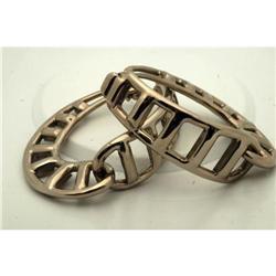 Ugo Correani Modernist Designer Silver Earrings#2378159
