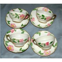 DesertRose Franciscan Earthenware Cups Saucers#2378172