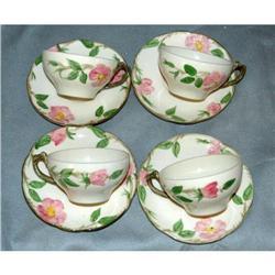 Set of 4 DesertRose Franciscan Cups & Saucers  #2378173