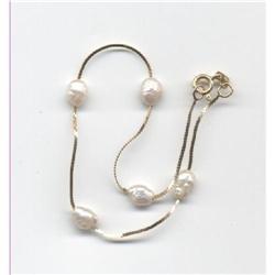 14K Gold & Freshwater Pearl Bracelet #2378176