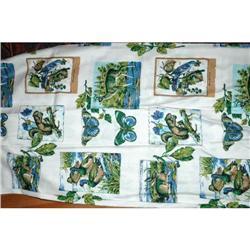 17 yds Vintage Wildlife Print Drapery Fabric #2378178