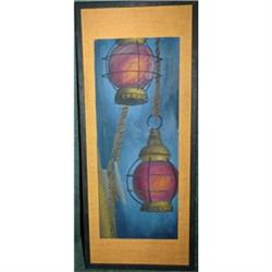 Original Painting of Old  Ship's Lanterns #2378196