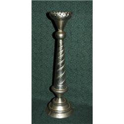Old Mexican Tin Candlestick Candle  Holder  #2378198
