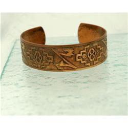 Very Old Copper Cuff Bracelet /Southwest design#2378199
