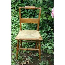 Vintage Chair with Rush Seat  #2378203