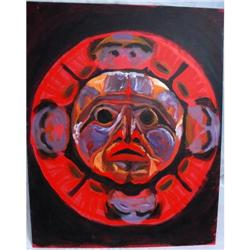 Tribal Mask Oil Painting  OUTSIDER ART? #2378210