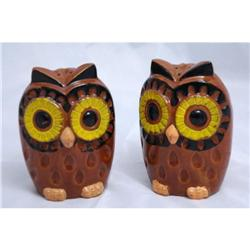 Large Vintage Owl Salt & Pepper Shakers -Japan #2378215