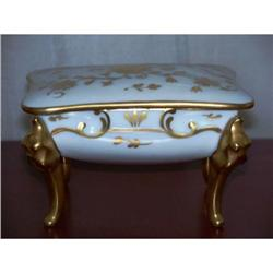 Limoges Porcelain Footed Trinket Box #2378218