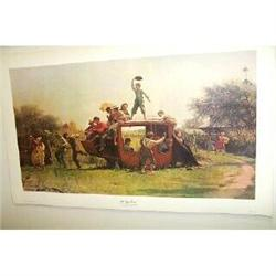 Eastman Johnson Lithograph, Old Stage Coach #2378221