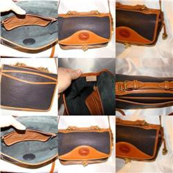 Vintage Dooney & Bourke Navy and Tan Handbag #2378229