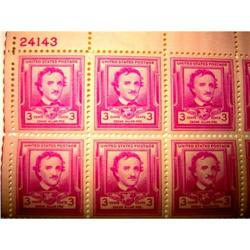 Edgar Allan Poe, 3 ct- 1950 #2378250