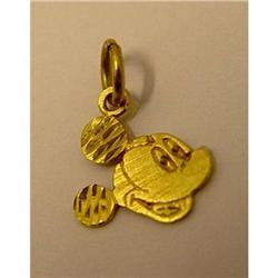 14kt Gold Mickey Mouse Charm Pendant Disney #2378270