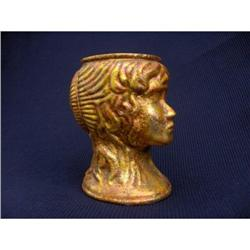 GOLD LEAF LADY HEAD VASE #2378289