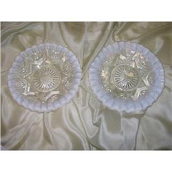 2 North Wood Plates- Ruffled- Jewel & Drape #2378361