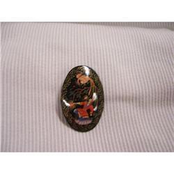 Russian Miniture Art  Black Lacquer  Paper #2378395
