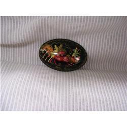 Russian Miniture Art  Black Lacquer  Paper #2378399