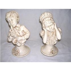 U. Kendrick Boy & Girl White Figurines #2378408