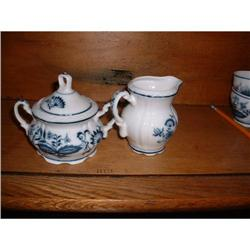 BLUE ONION CREAM AND SUGAR SET #2378495